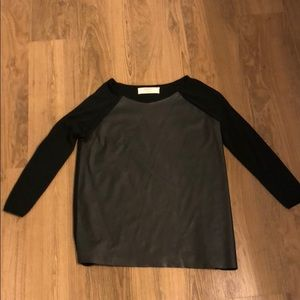 Faux leather front Zara sweater